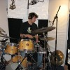 Matt on the drums